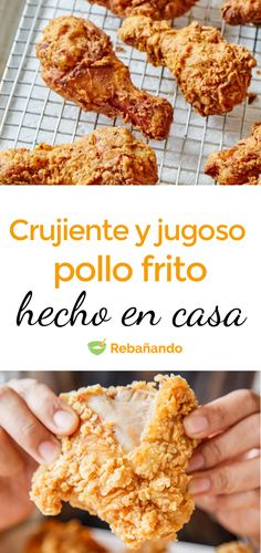 Make KFC-style homemade fried chicken- The real Kentucky Fried Chicken: finger-licking! Cooking Fried Chicken, Homemade Fried Chicken, Kentucky Chicken, Kentucky Fried, Pollo Frito Kfc, Pollo Frito Estilo Kentucky, Puerto Rican Recipes, Breakfast Snacks, Bon Appetit