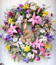 Easter Wreath-Spring Wreath-Baby and Mother by SeasonalWreaths