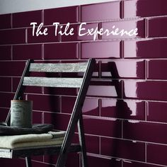 burgundy wall | Edge Bevel Wall Tile Burgundy (prugna) 100x300mm - Wall tiles and ...