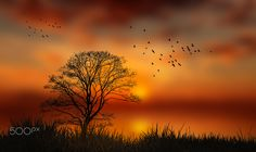 serenity 2 by costelbcc Watercolor Pictures, Watercolor Art, Serenity, Germany, Fine Art, Sunset, Outdoor, Beautiful, Faith