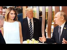Donald Trump challenged the Russian president on hacking the 2016 election - and Putin denied it. Russia says Trump accepted the denial but Secretary of State Rex Tillerson said he did not. Donald Trump, Vladimir Poutine, Russia Putin, Trump One, Thing 1, World Leaders, Us Presidents, North Korea, Body Language