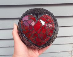 Mosaic Orb Gazing Ball Crystal Ball Home by PiecesofhomeMosaics