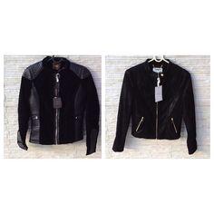 Novinhas com etiqueta essas jaquetas #Aishty . Perfeita mistura de veludo com couro  fantásticas .