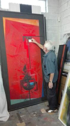 Artist Emil Sogor @ his Studio in SA