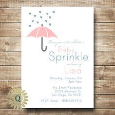 Baby Shower Baby Sprinkle Invitation Printable DIY. $10.00, via Etsy.