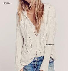 Молодежный пуловер спицами от 27 Miles - СХЕМЫ #ВязаниеСпицами http://mslanavi.com/2016/05/molodezhnyj-pulover-spicami-ot-27-miles/