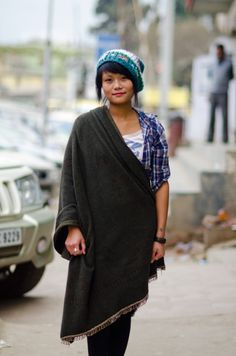 naga woman nagaland street fashion