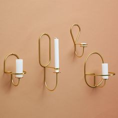 Hay Lup Wall Oblong, brass | Hay Lup | Candleholders | Decoration | Finnish Design Shop