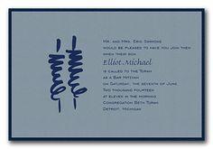 Elliot - Bar Mitzvah Invitations by Invitation Consultants. (Item # CB-GEN-HVJ-U )