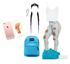 """""""back to school #3"""" by my-savage-self ❤ liked on Polyvore featuring Topshop, JanSport, women's clothing, women, female, woman, misses and juniors"""