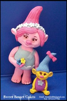 Fondant Figures, Cupcake Toppers, Troll, Princess Peach, Cake Decorating, Cakes, Character, Food Cakes, Pastries