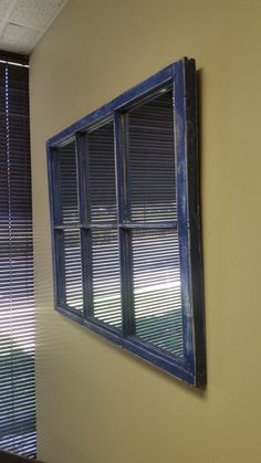Blue Distressed Window Mirror From Charlotte NC 1950s Home 15699 TheDecorativeCompany