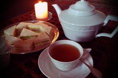 KPM Kurland, tea and cucumber sandwiches. Yeah!