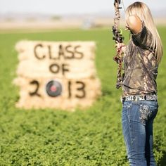 Senior Portrait / Photo / Picture Idea - Girls - Hunting - Archery - Bow Maybe wear Chad's shirt