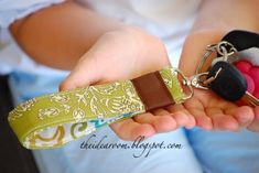 Fabric Key Chain.They are fun to make to coordinate with your purses. feel safer, helps to quickly get into your car or house). the wristlet allows you to hang up your keys