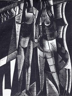 Paul Nash, Genesis, Made of Woodcuts, printed on Zanders hand-made paper uncut with partial dust wrapper