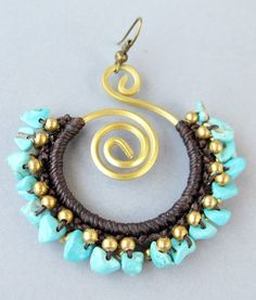 Macramé earrings.