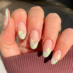 Spring Nail Trends, Spring Nail Art, Nail Designs Spring, Spring Nails, Punk Nails, Dope Nails, Swag Nails, Natural Almond Nails, Almond Shape Nails