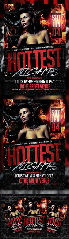 Hottest Nights Flyer Template