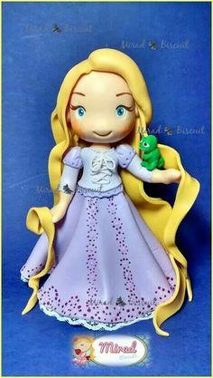 Topo de Bolo - Rapunzel Contato: atelier.mirad@gmail.com
