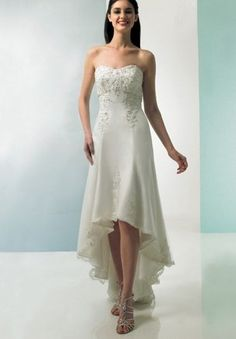 Simple Country Wedding Dress | Home Bride Tulle Strapless Sweetheart A-line Simple Wedding Dress
