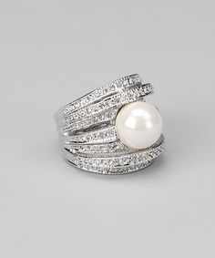 Silver Pearl Ring.