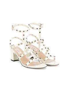Valentino Valentino Garavani Rockstud block heel sandals-Sz#9.5