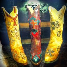 Cowgirl Boots with Crosses by Corral at http://www.rivertrailmercantile.com!