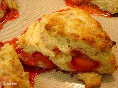 Image result for strawberry scottish scones