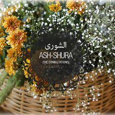Ash-Shura Surah Graphics