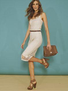 Crochetemoda: Vestido Branco de Crochet III