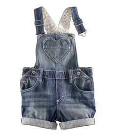 Salopette short - H Baby Outfits, Outfits Niños, Kids Outfits, Toddler Outfits, Little Girl Fashion, My Little Girl, My Baby Girl, Kids Fashion, Baby Girl Stuff