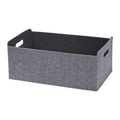 IKEA - BESTÅ, Box, Damit bleibt die BESTÅ Aufbewahrungskombination schön organisiert. Ideal für die Aufbewahrung von Zeitschriften, Fernbedienungen, DVDs, Spielzeug oder Hobbybedarf.Dank der seitlichen Grifföffnungen leicht herauszuziehen und hochzuheben.Weicher Filz schützt den Inhalt und hält ihn am Platz, damit beim Herausziehen der Box nichts verrutscht.