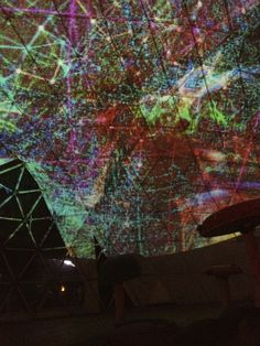 """Trippy progection installation in sphere at """"Apocalypse Meow III"""" festival."""