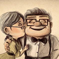 Hermoso dibujo de Up! ;) Lo que llore con esta pelicula. :)
