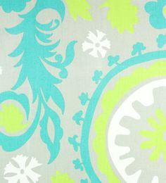 Suzani Harmony / Green Twill | Online Discount Drapery Fabrics and Upholstery Fabric Superstore!