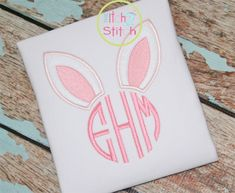 Bunny Ears Monogram Applique