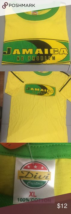 "🇯🇲Jamaica No Problem T-Shirt 🇯🇲 Jamaica ""No Problem"" men's T-Shirt, by Diva Creations. Colors:- Yellow, Green, Black. Size XL... 100% Cotton, match with accessories for $ale in my Closet. Diva Creations Shirts Tees - Short Sleeve"