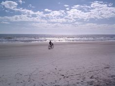 Bike on the beach at low tide.... Hilton Head Island, South Carolina