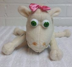 Serta Counting Sheep 3/8 Stuffed Animal Plush Pink Bow Mattress            (A18) #CurtoToys