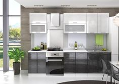 Kuchyně VALERIA 220 rain stříbrná/černá - zvětšit obrázek