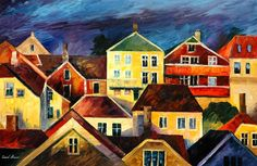 SIGHT FROM ABOVE - PALETTE KNIFE Oil Painting On Canvas By Leonid Afremov http://afremov.com/SIGHT-FROM-ABOVE-PALETTE-KNIFE-Oil-Painting-On-Canvas-By-Leonid-Afremov-Size-24-x36.html?utm_source=s-pinterest&utm_medium=/afremov_usa&utm_campaign=ADD-YOUR