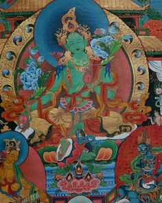Green Tara buddhist goddess of compassion