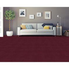 Achim Nexus Burgundy Self Adhesive Carpet Floor Tile 12 Tiles 12x12 Red Size X