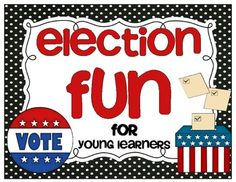 30 page packet full of election fun for young learners! $4