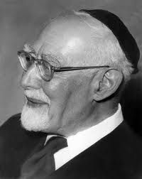 """20th-century German rabbi, scholar, and leader of Progressive Judaism, Leo Baeck published The Essence of Judaism, which interpreted Judaism through a prism of Neo-Kantianism.  The book made him a famous proponent for Jews and their faith. In 1943, he was deported to the Theresienstadt concentration camp and  became the """"honorary head"""" of the Council of Elders (Judenrat) in Theresienstadt.  Despite offers to help him escape, he refused to abandon his community. He did  survive the Holocaust."""