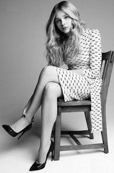 Cloe Moretz, tacones de 15cm.