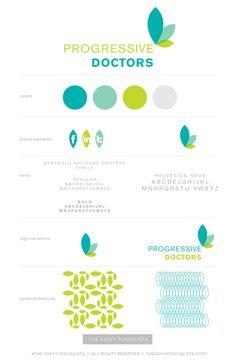 Option Brand Board for Progressive Doctors by The Savvy Socialista.