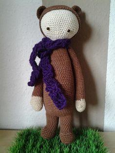 BINA the bear made by Sandra K. / crochet pattern by lalylala