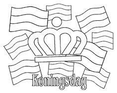 koningsdag kleurplaat